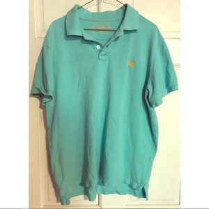 American Eagle Collared Polo Shirt Turquoise